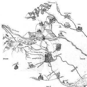 rappresentazione cartografica storica del territorio della Marca Trevigiana
