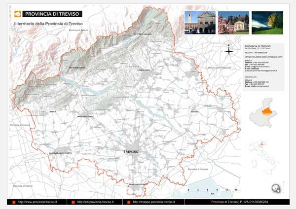 Il territorio della  Provincia di Treviso