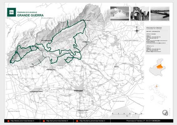 Piano Territoriale Turistico - mappa in formato A3 dell'itinerario della Grande Guerra