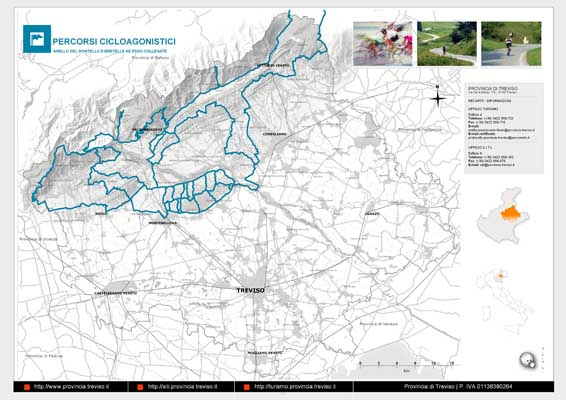 Piano Territoriale Turistico - mappa in formato A3 dell'itinerario Ciclistico