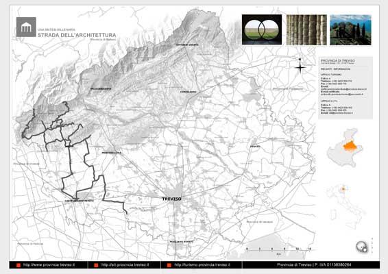 Piano Territoriale Turistico - mappa in formato A3 dell'itinerario dell'Architettura
