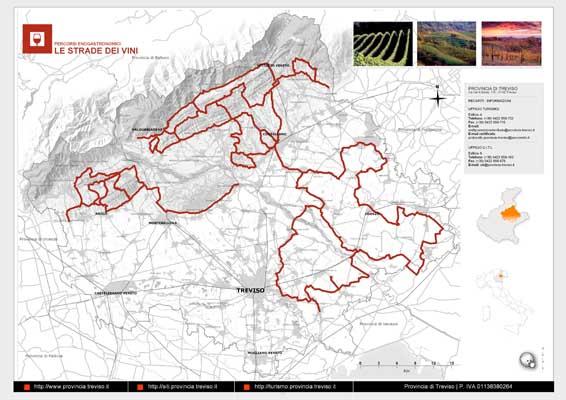 Piano Territoriale Turistico - mappa in formato A3 dell'itinerario dei Vini