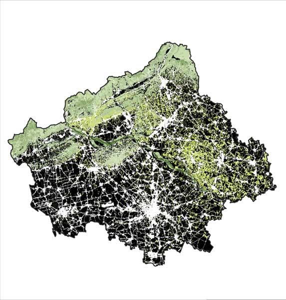 Contrasto urbano – agricolo, pianura - rilievi