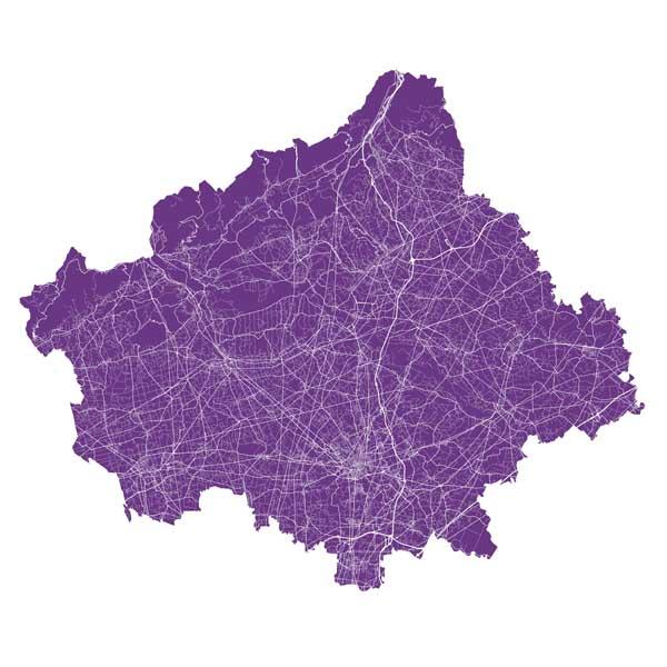 Carta delle reti (autostrade, strade, ferrovie, elettrodotti, oleodotti, metanodotti)