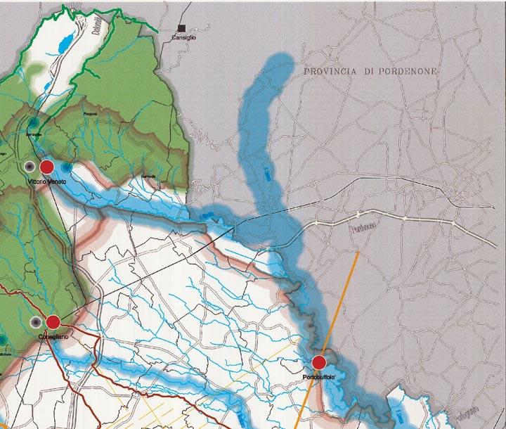 Mappa Quadrante Nord Est Piano Turistico Territoriale