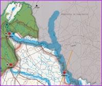 Guarda la porzione Nord Est della mappa