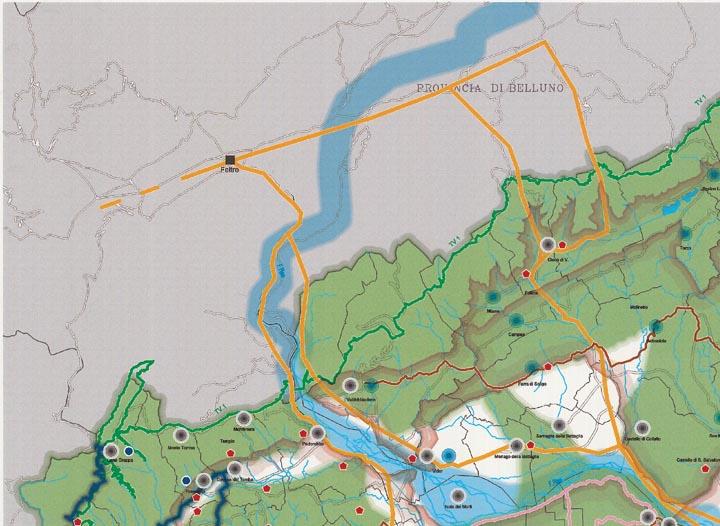 Mappa Quadrante Nord Ovest Piano Turistico Territoriale