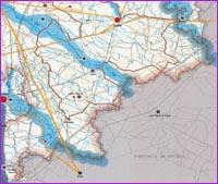 Guarda la porzione Sud Est della mappa