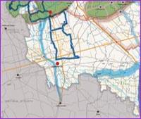 Guarda la porzione Sud Ovest della mappa