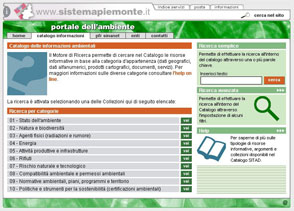 portale dell'informazione ambientale