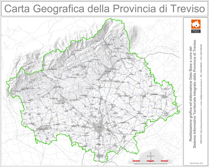 Carta Geografica Provinciale (scala di grigi)